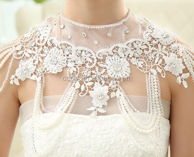 Mode Billig 2016 Weiss Spitze Braut Jacke Hochzeit Wraps Vintage