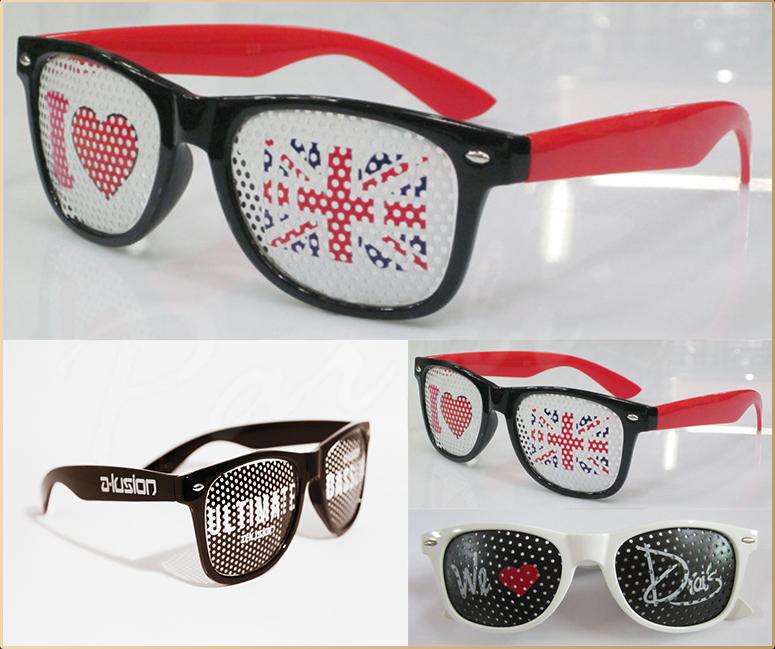 Party Event Pinhole Sunglasses Logo Sticker Shades Pin