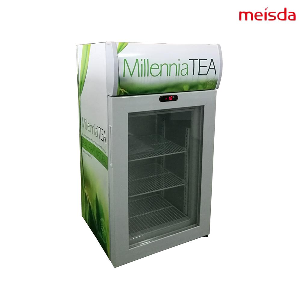 Glass Door Mini Countertop Display Freezer For Ice Cream 50 Litre