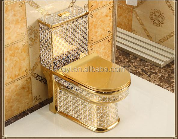 Ceramic Gold Color Wc Toilet Bowl Bathroom Golden Toilet