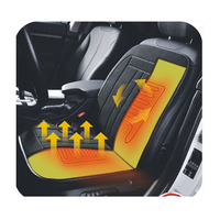 GEDE 12V BLACK WINTER HEATED/PADDED CAR/VAN SEAT CUSHION/COVER