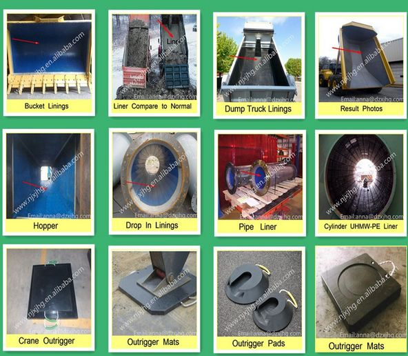 UHMW PE Liner for Chutes, Hoppers, Bins and Bunkers