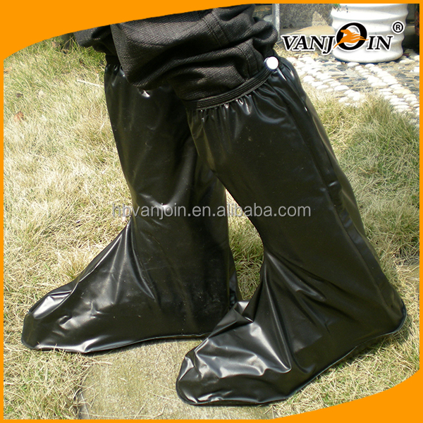 Different Sizes Black Long Style Rain Shoe Covers for Men