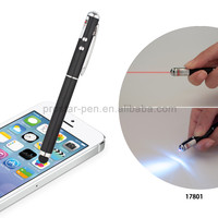 Popular Good Quality Promotional 4 in 1 metal Stylus light Laser pen