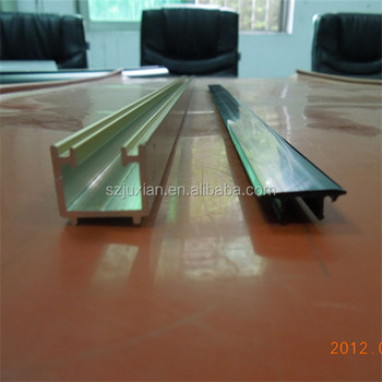 custom tooling U Plastic side rail extrusion U shape channel