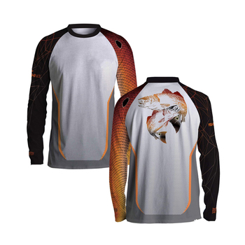 Wholesale blank 100% polyester tournament fishing jerseys