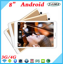 New Design 8 Inch 3G Android Tablet Quad Core Tablet With 1280*800IPS