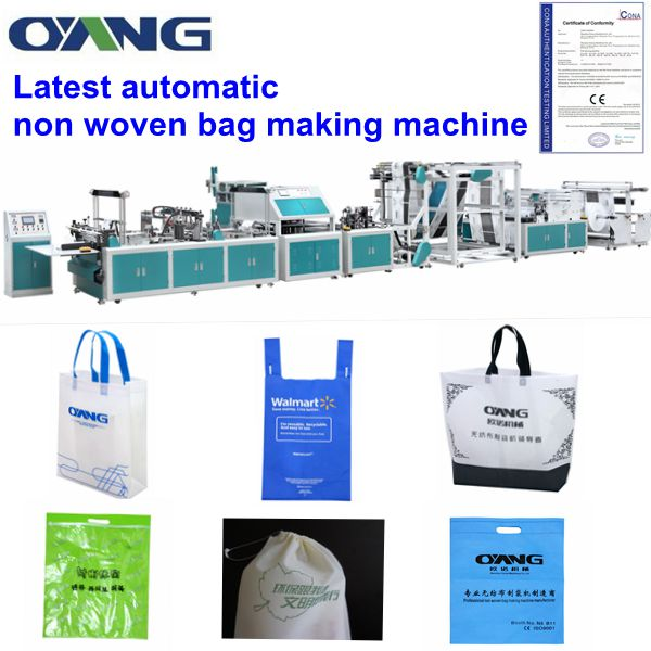 higher speed machinery pp non woven t-shirt bag making machine price sold all over the world