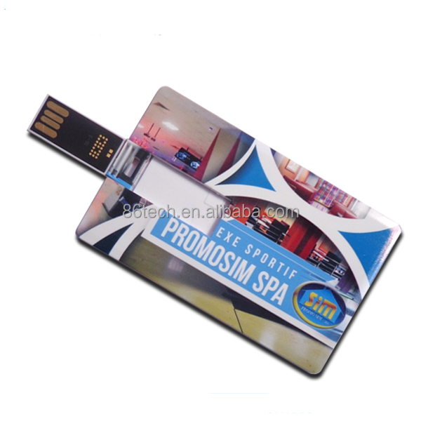 Alibaba express card usb stick 2gb both side artwork print business card