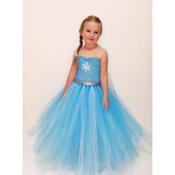 Latest Design Frozen Princess Elsa Costume Dress With High Quality Oem Cosplay In
