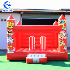 Red color inflatable castle jumping bouncer kids bouncy castle for sale