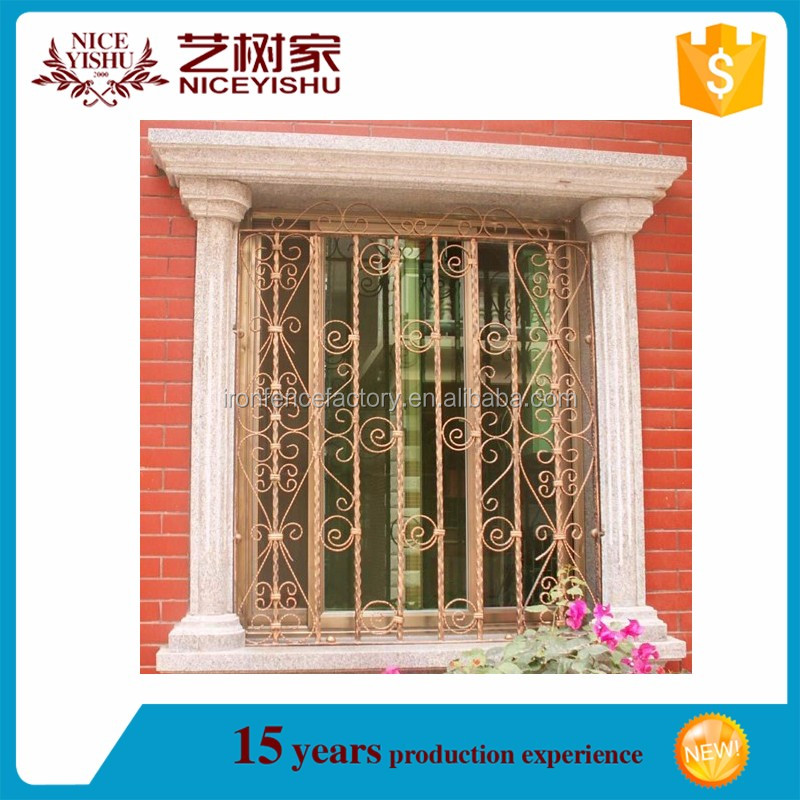 New Style Iron Window Grill Design