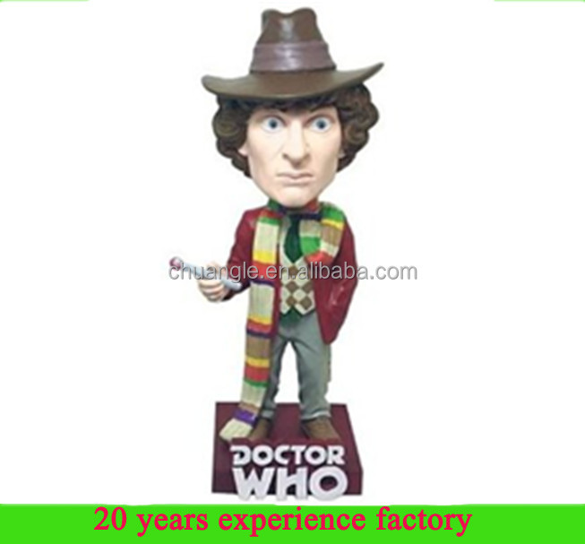 Shenzhen Doctor Who Fourth Doctor resin custom talking bobbleheads wholesale bobbleheads