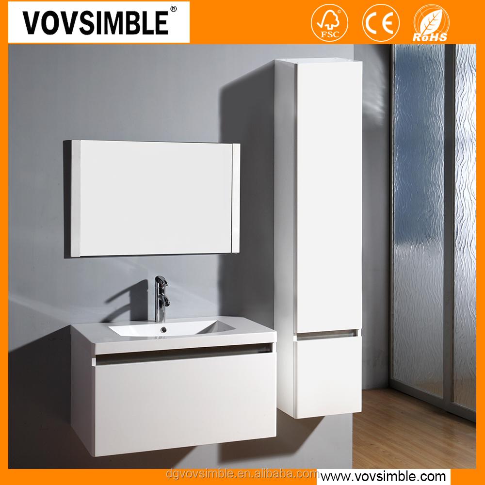 Simble Brand White Waterproof Bathroom Cabinet,Bathroom High Glossy ...
