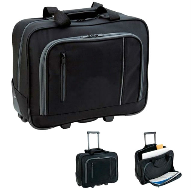Trolley Wheeled Custom Laptop Briefcase - 17""