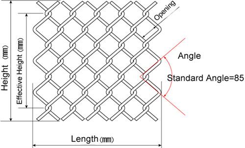 50 50mm Standard Diamond Chain Link Cyclone Wire Fence
