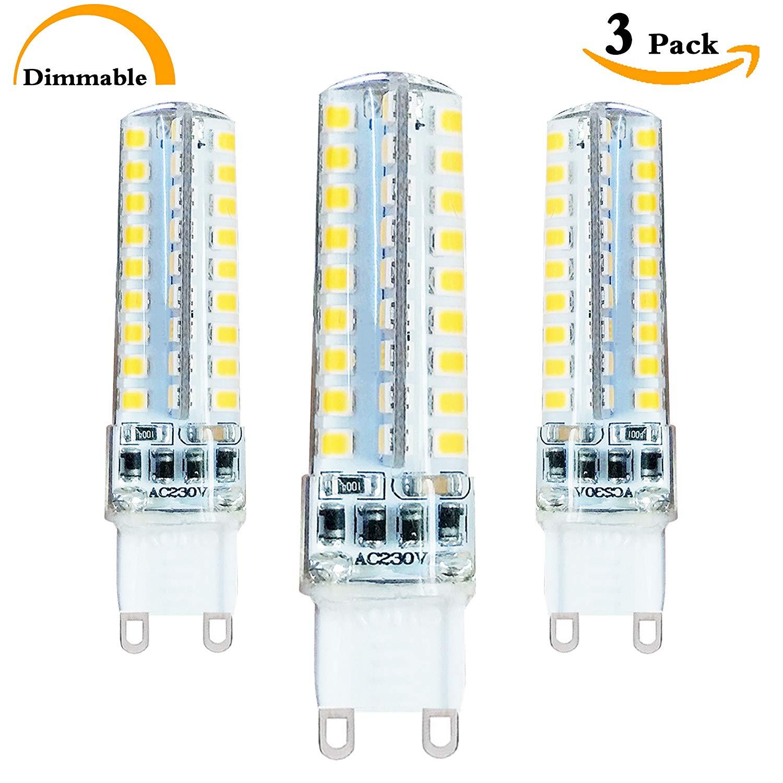40 Watt G9 Halogen Bulbs Replacement Dimmable 4 Watt LED G9 Lamp,(G9 Base) Bi pin G9 LED Daylight White 5000K 120 Volt 400 Lumen 360 Degree large range Lighting G9 JDC Bulb – Pack of 3