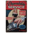 Spark Plugs Vintage Metal Sign Crosses Wall Decor Home Decor Pin Up Poster Antique Tray House Rules Pub Hotel Club Art Decor