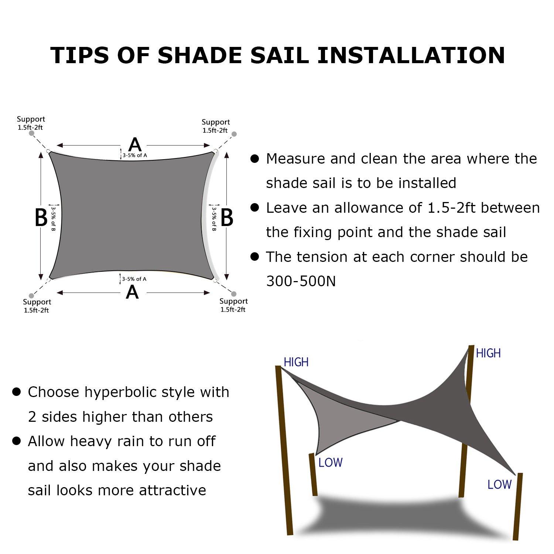 Specialized production custom picnic sun shade sail
