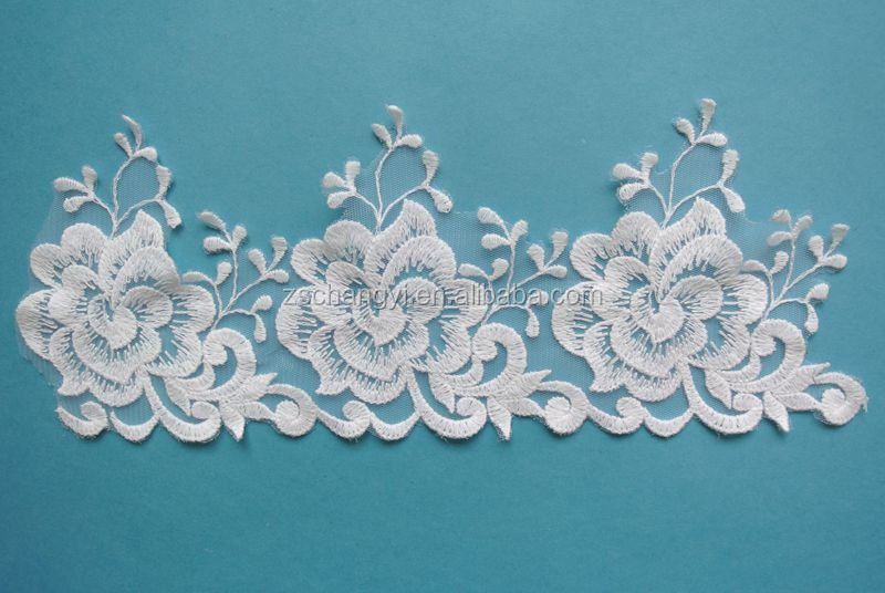 Big Floral Embroidery Lace Trim Wholesale