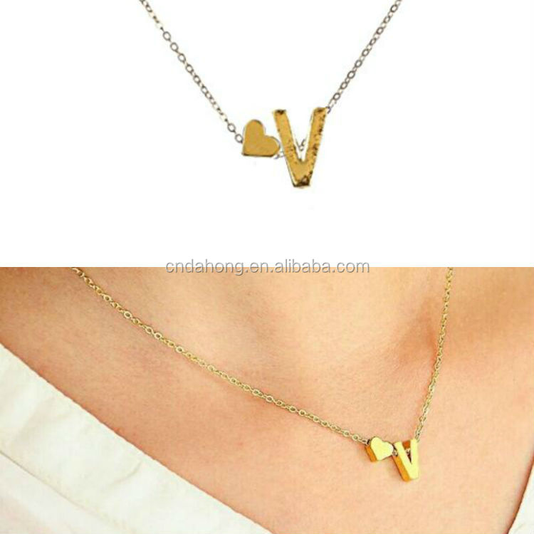 m fysara jewelry gold long pendants in brand name chains for from necklaces item pendant alphabet men necklace letter clavicle women