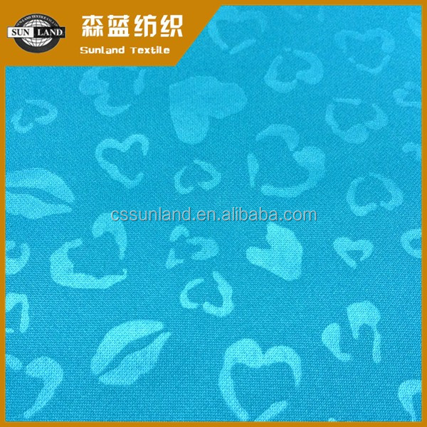 Hot sale 100% polyester PK interlock embossed fabric for sportwear
