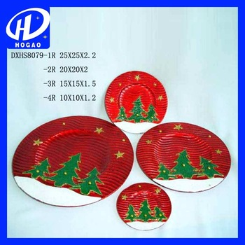Christmas Tree Ceramic Plate by Tag