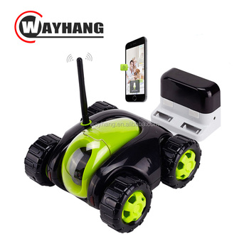Wireless Rc Car Monitoring Camera Remote Moving Robot Tank Ip Camera