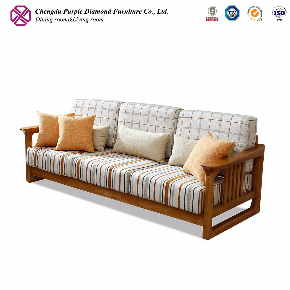 Modern wooden sofa sofa wooden design enchanting simple for Wood furniture design sofa set