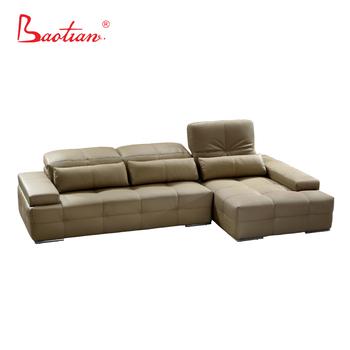 Big Corner L Shape Leather Sofa Sectional Adjustable Headrest - Buy Leather  Sectional Sofa Headrest,Sofa Headrest Removable,Adjustable Headrest Sofa ...