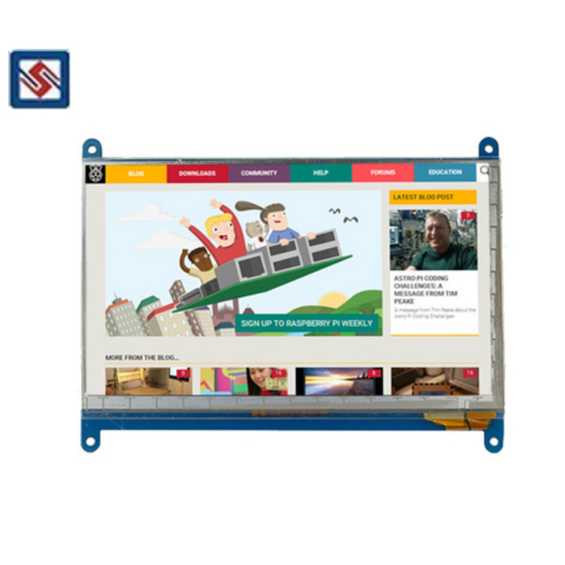 TFT Screen 7 Inch Raspberry Pi 3 Touch Screen 1024*600 800*480 Capacitive Lcd HDMI Interface TFT Lcd Display for Raspberry Pi 3