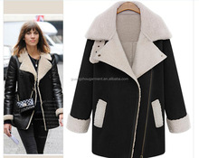 2014 England winter women's Lamb Down long coat jacket warm wool long sleeve coat