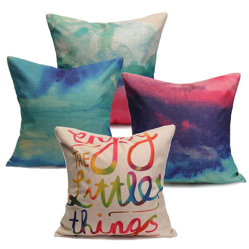 Geometric Pillow Covering Home Car Sofa Decoration Gift Color Clouds Pillow Case Cushion cover Luxury