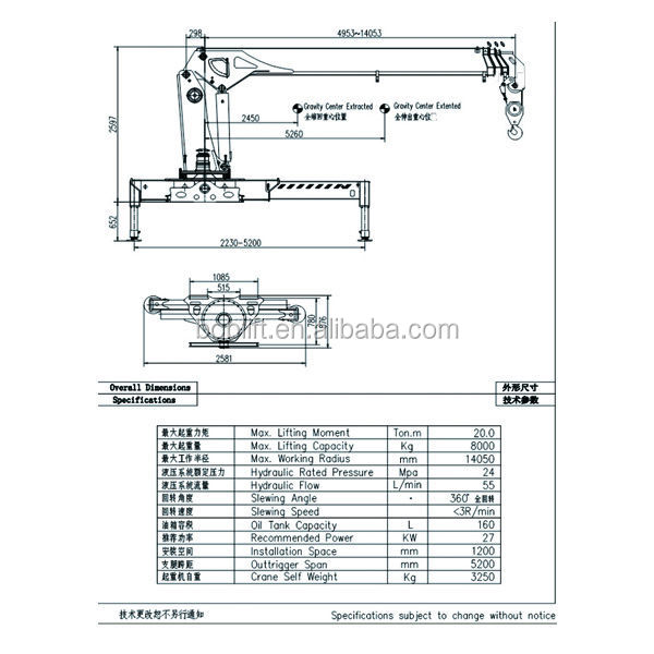 8 Ton Used Hydraulic New Mobile Truck Mounted Crane Boom Hoist Lift Structure Engine Manufacturer For