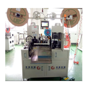 HC-20PX Fully automatic wire cutting stripping splitting both ends crimping machine for 6P-12P flat cable