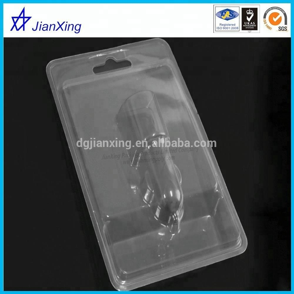 clear plastic slide blister or electronics and toys outer package ,flang folded blister
