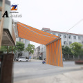 The intelligent polycarbonate door canopy roof electric awning motor