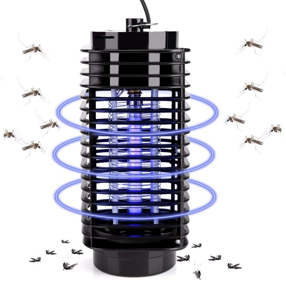 ERTIANANG Electronic Mosquito Killer Lamp Insect Zapper Bug Mosquito Killer Fly Stinger Pest Zapper Fly Control UV light Trap Lamp US Plug