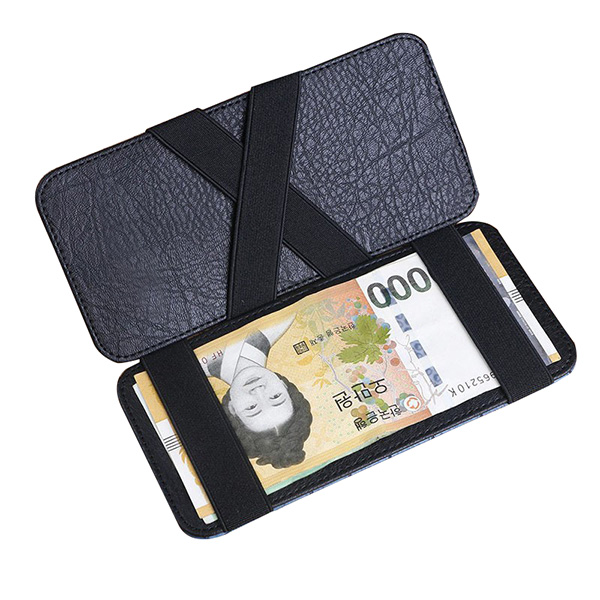 6 credit card slots Simple Design slim Card Holder Wallet with Elastic Strap