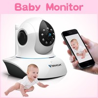 free ddns night vision ir cut wireless intercom baby ip camera baby monitor iphone