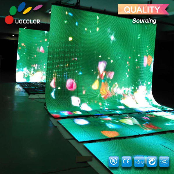 Bühne Dekoration Licht Flexible LED Video Vorhang Display/Flexible Led-bildschirm/Bühne Hintergrund Led-anzeige
