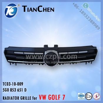 RADIATOR GRILLE for GOLF 7 CN: 5GG 853 651 D - 5G0 853 651 D - 5GG853651D - 5G0853651D - 5GG853651 - 5G0853651