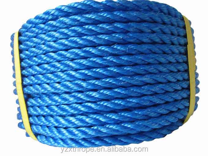 4 mm 3 strand polypropylene rope for packaging