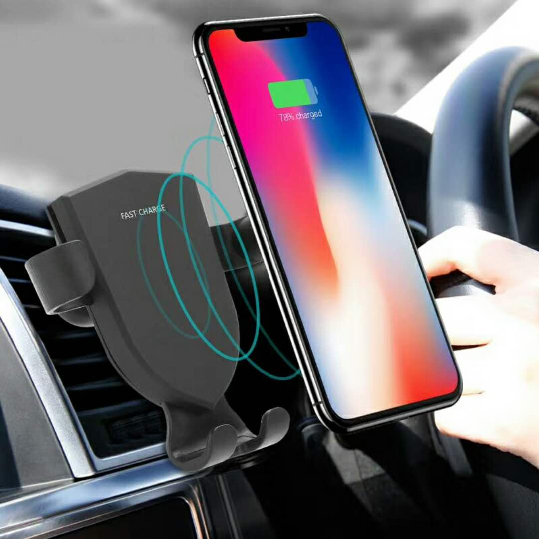 Quick mobile phone car mount fast charging charger , qc 3.0 qi wireless car charger