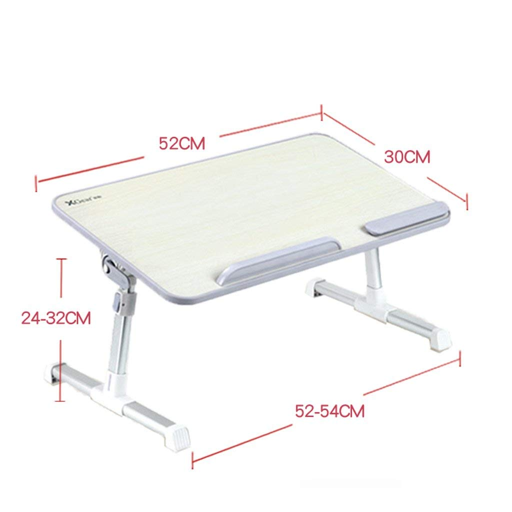 Adjustable Laptop Bed Table, Portable Desk, Breakfast Tray, Laptop Stand Book Reading Rest Frame Sofa Floor Children (Color : 5)