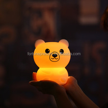 Creative 7 colors change silicone cut night light , silicone LED night lamp with pat control function
