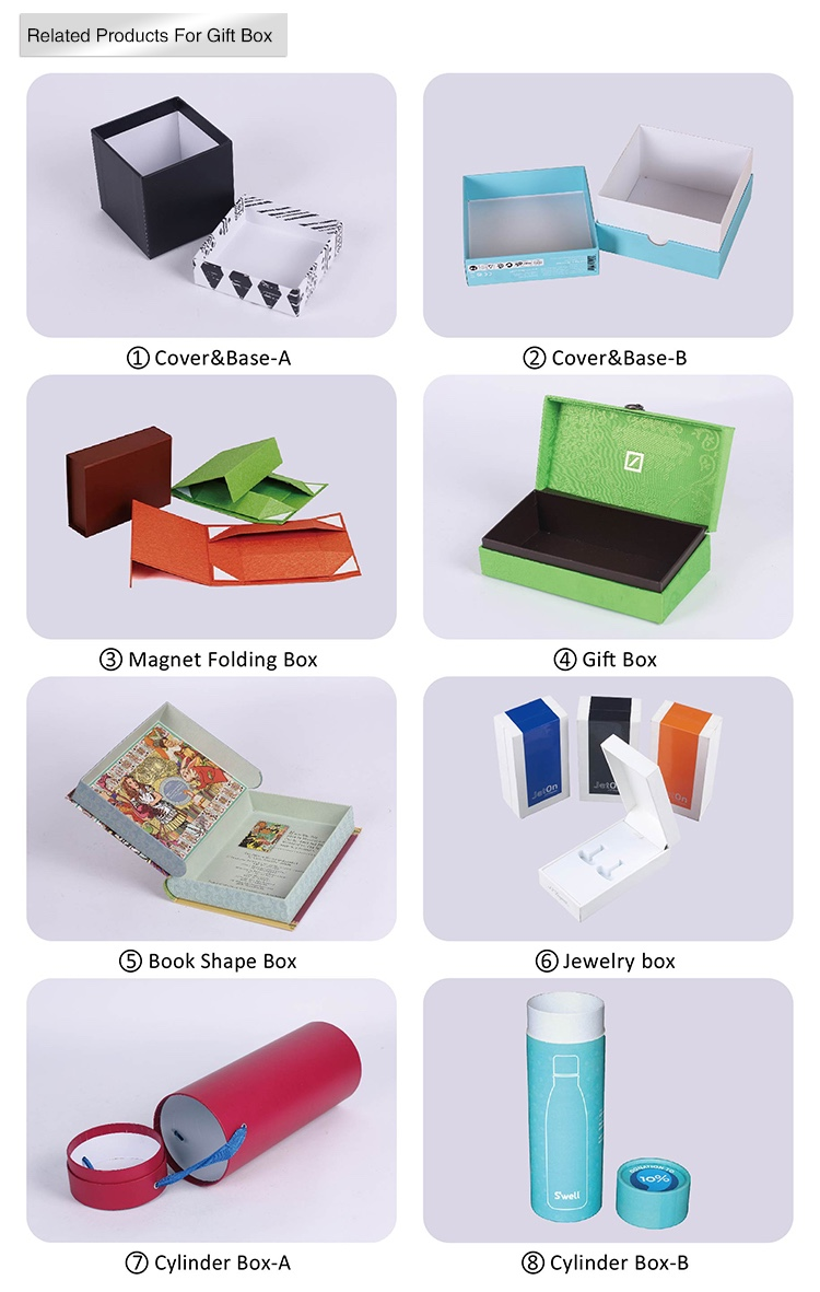 Custom Printed Rigid Cardboard Clothes Packing Paper Box