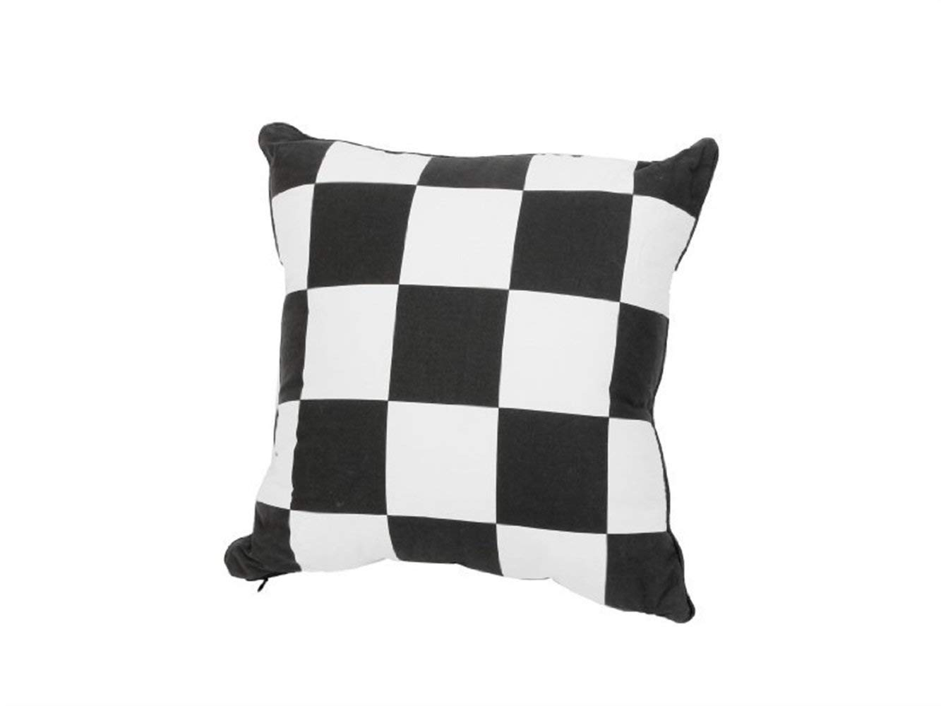 Yuchoi Perfectly Shaped Fashion Black White Trellis Pattern Lumbar Back Support Cushion Pillow for Car