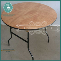Reinforced restaurant round folding table wholesale