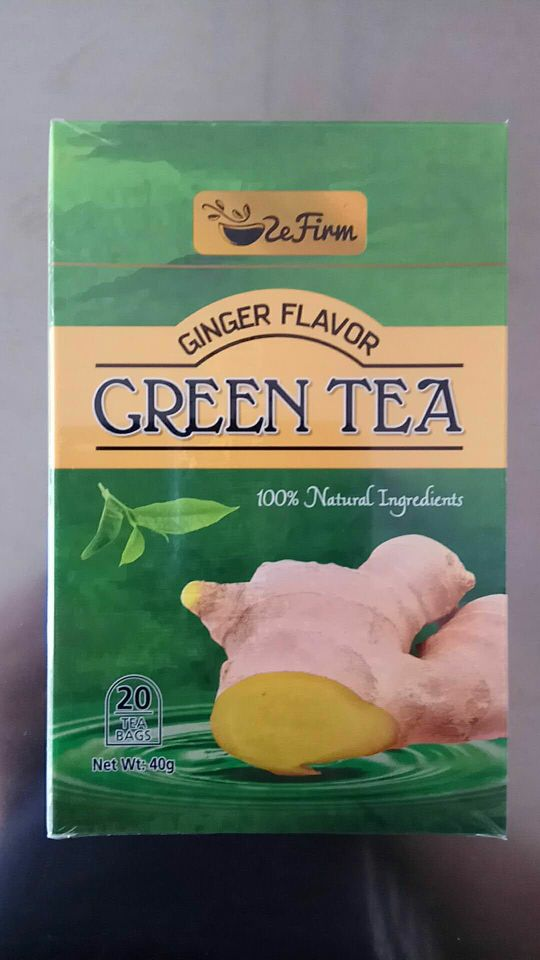 The best price wholesale 100% herbs ginger flavor green tea